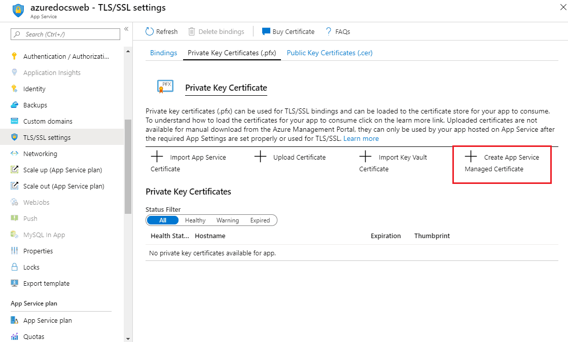 Azure Free SSL