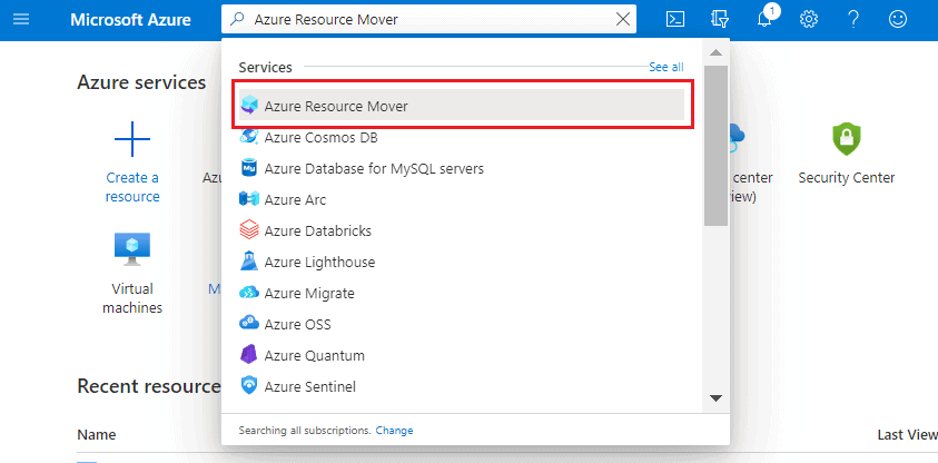 Azure Resource Mover